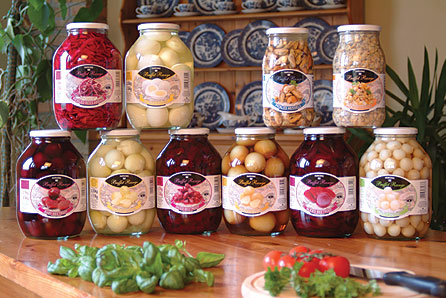 Jars from the Parson's Pickles range